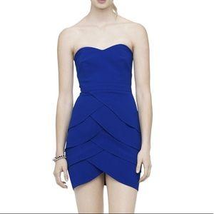 Club Monaco Blue Strapless Dress